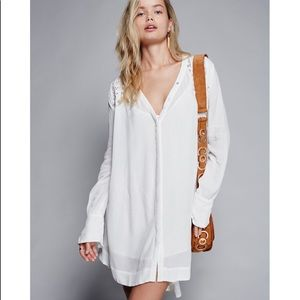 Free People Courtneys Victorian Shirt Dress